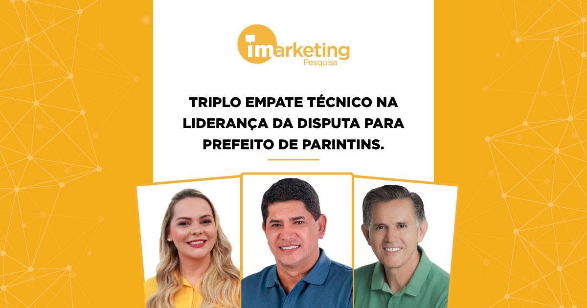 Triplo empate técnico na disputa para prefeito de Parintins