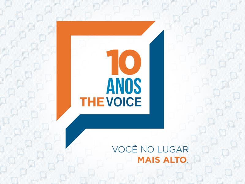 Logo 10 anos The Voice